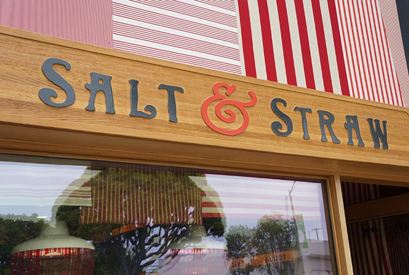 Salt & Straw, a gourmet ice cream shop on Larchmont Blvd in Los Angeles